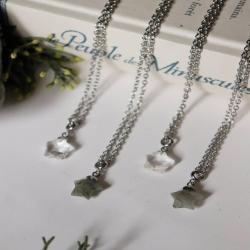 • ~ Les Étoiles Du Nord ~ • . Elles vous guideront.. 🌠 . Petites étoiles sculptées de pierres naturelles  de labradorite ou de cristal de roche 🌟 . Disponibles ce soir à 20h pour la mise à jour de la boutique ❄ . . . #cybijoux #cosmic #nature #stars #etoiles #jewelry #space #espace #moon #labradorite #cristal #stones #smallbusiness #creatricefrancaise #artisanatfrancais #artisanat